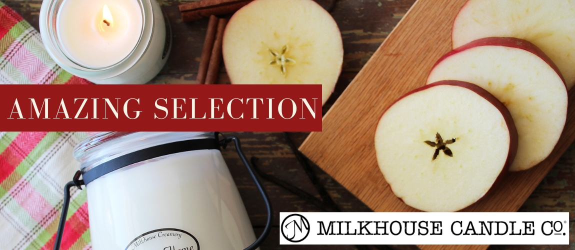Amazing selection of Milkhouse candles